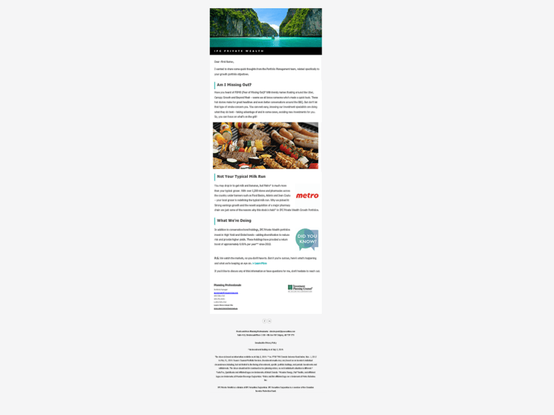 private wealth newsletter template